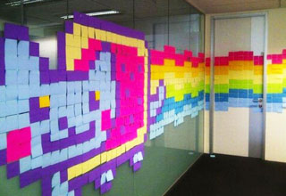 cat [Gallery] Post It Note Art Funny Picture