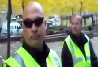 security [Video] Security Guard at Zuccotti Park Uses Gay Slur Funny Picture