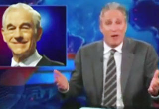 paul [Video] Jon Stewart Bashes Media For Ignoring Ron Paul Funny Picture