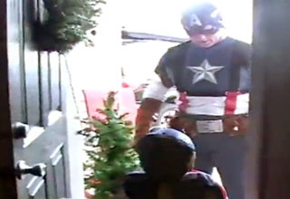 america [Video] Military Dad Dresses Up as Captain America to Surprise His Son Funny Picture