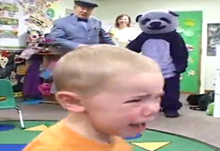 panda [Video] Purple Panda Scares School Children Funny Picture