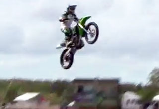 moto2 [Video] Chick Crashes in Huge Moto Jump Funny Picture
