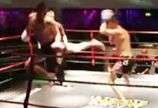 kickbox [Video] Crazy Kickboxing KO Funny Picture