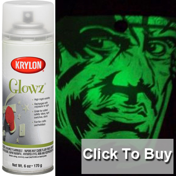 krylon glow in the dark spray paint. Black Bedroom Furniture Sets. Home Design Ideas