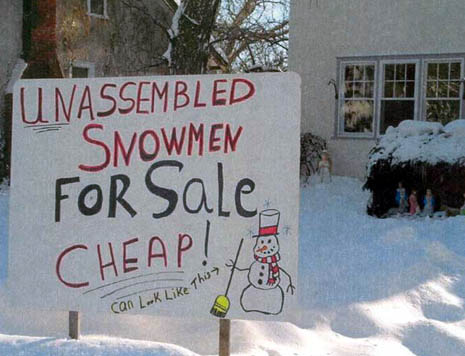 Snowman For Sale