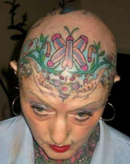 tattoo penis on head