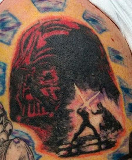 Star Wars Tattoos. Some of these are good, some of these are not so good