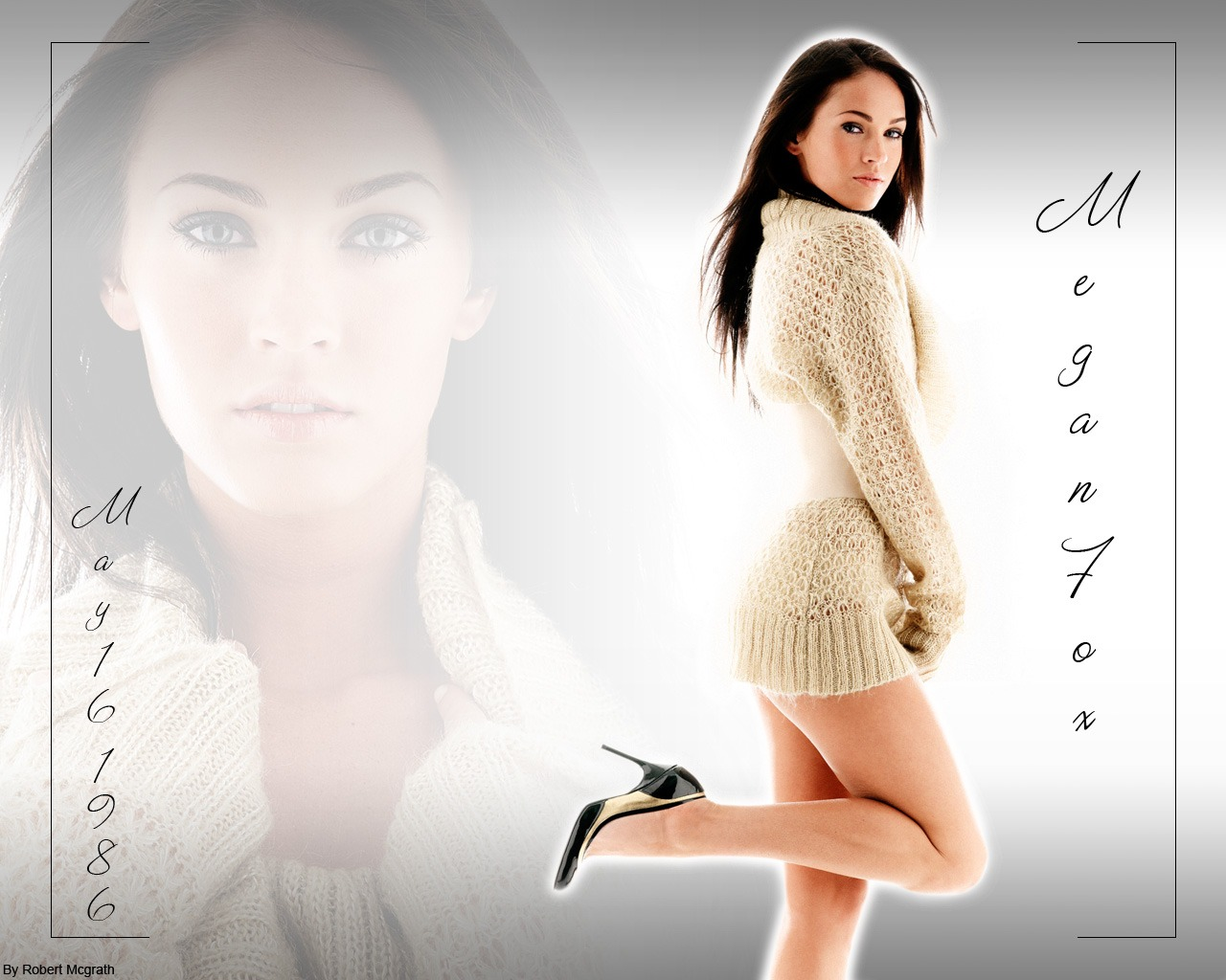 hot model megan fox 1280x1024 wallpaper