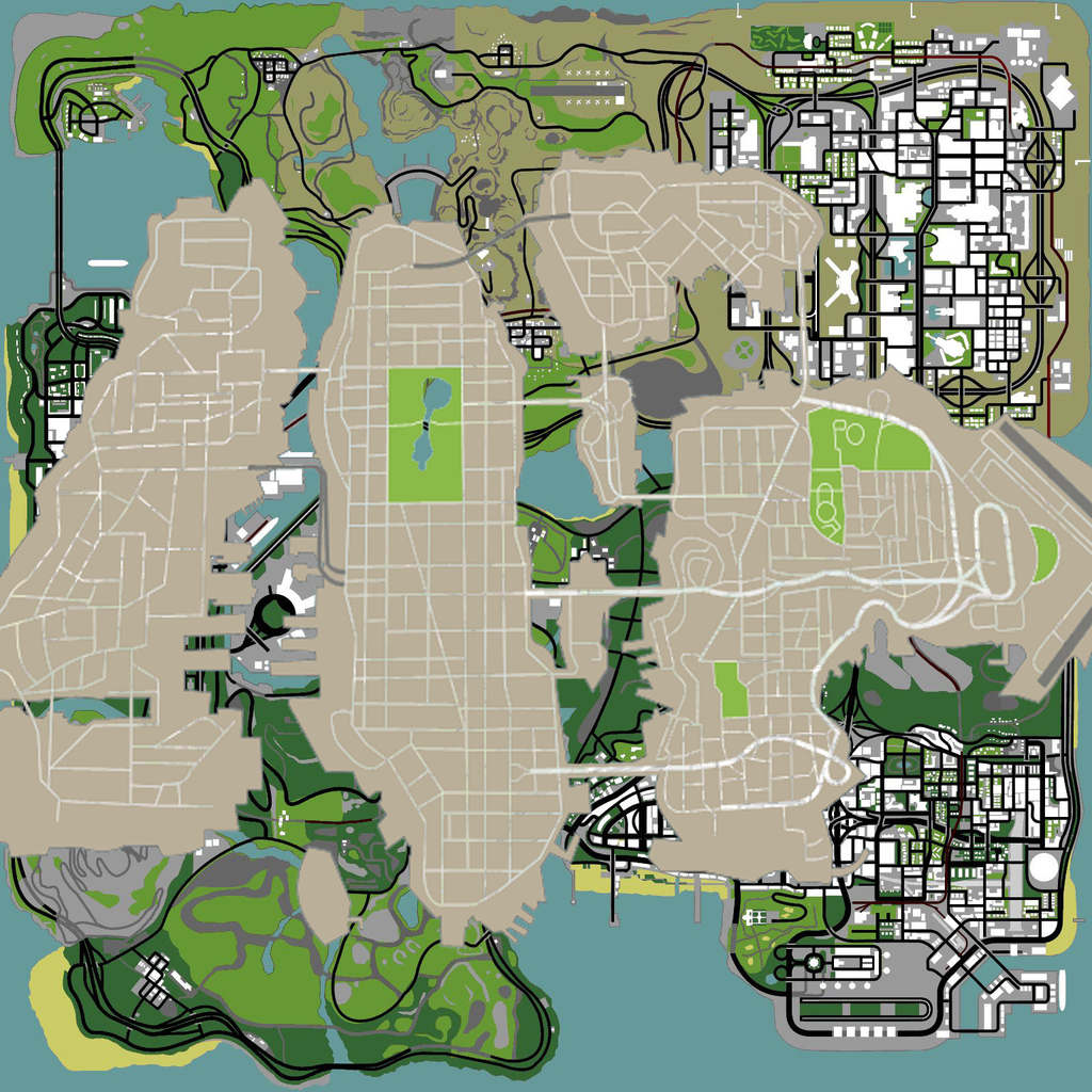 GTA 4 vs San Andreas map