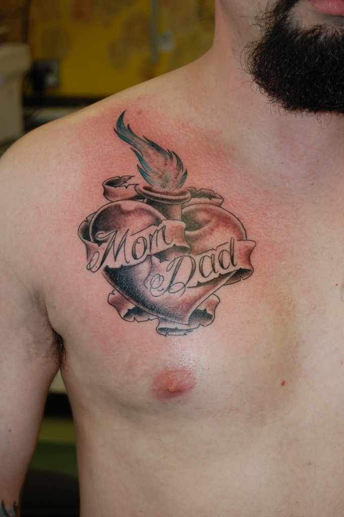 Lower back tattoo. Mum and dad must be really proud. 20th November 2009
