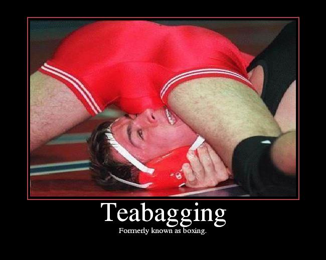 Teabagging guys