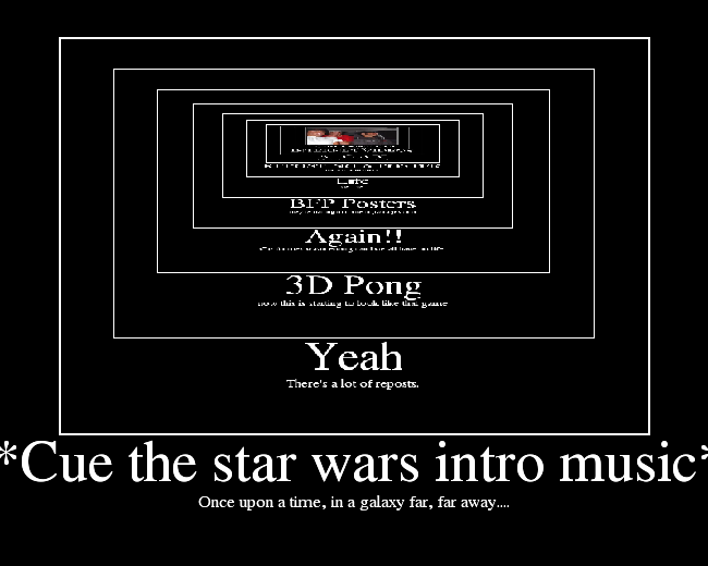( the star wars intro music). funny games intro music