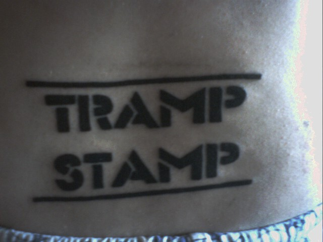 tramp stamp tattoo. Views: 5032