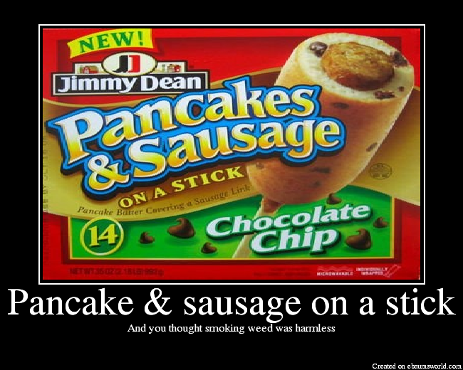 Pancake sausage on a stick