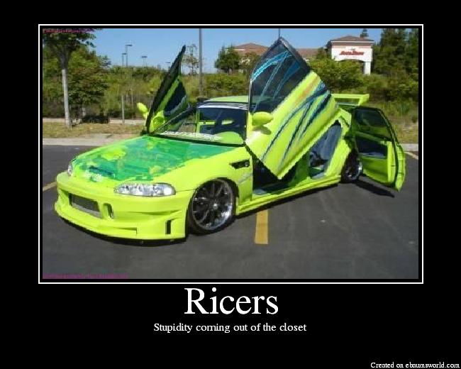Ricer Car Jokes