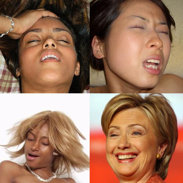 نشوة المرأة من تعابير وجهها بالصور الموضحه hillary.jpg