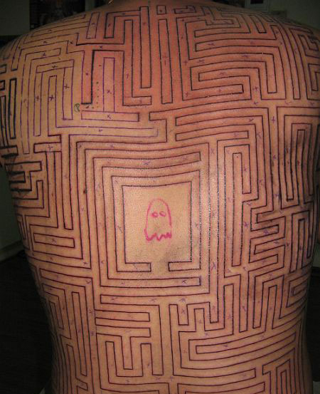 Pac-Man Tattoo