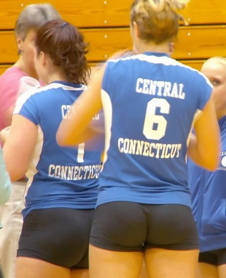 girls volleyball ass