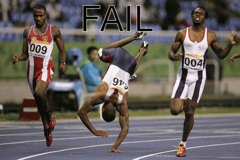 running fall