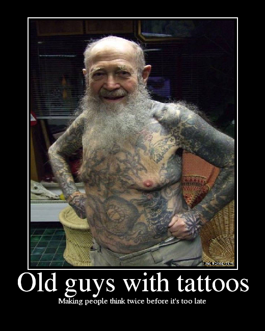 Old guys with tattoos