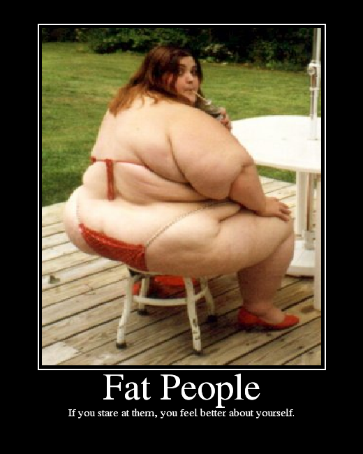 fat people throwing up