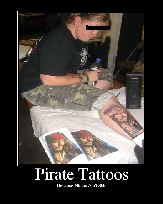 """Blue Tattoo"" is a 2004 song by Vanilla Ninja. Pirate Tattoos. Enlarge."