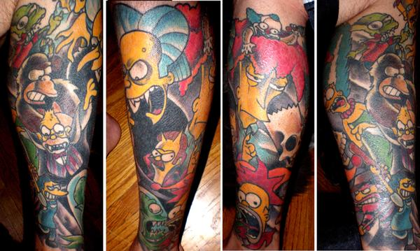 Simpsons Halloween Tattoo