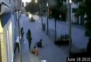 Muslim British Female Racist Gang Attacks Couple view on ebaumsworld.com tube online.